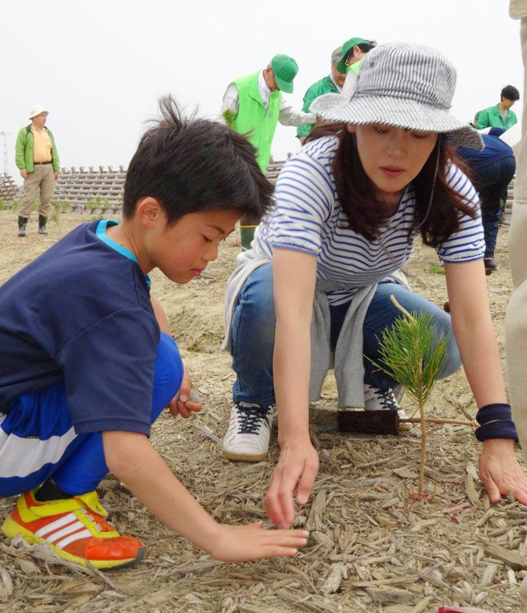 名取・潮除須賀松(しおよけすかまつ)の森 再生植樹式(その4)