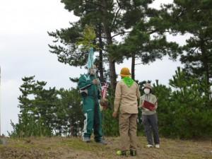 苗木の贈呈